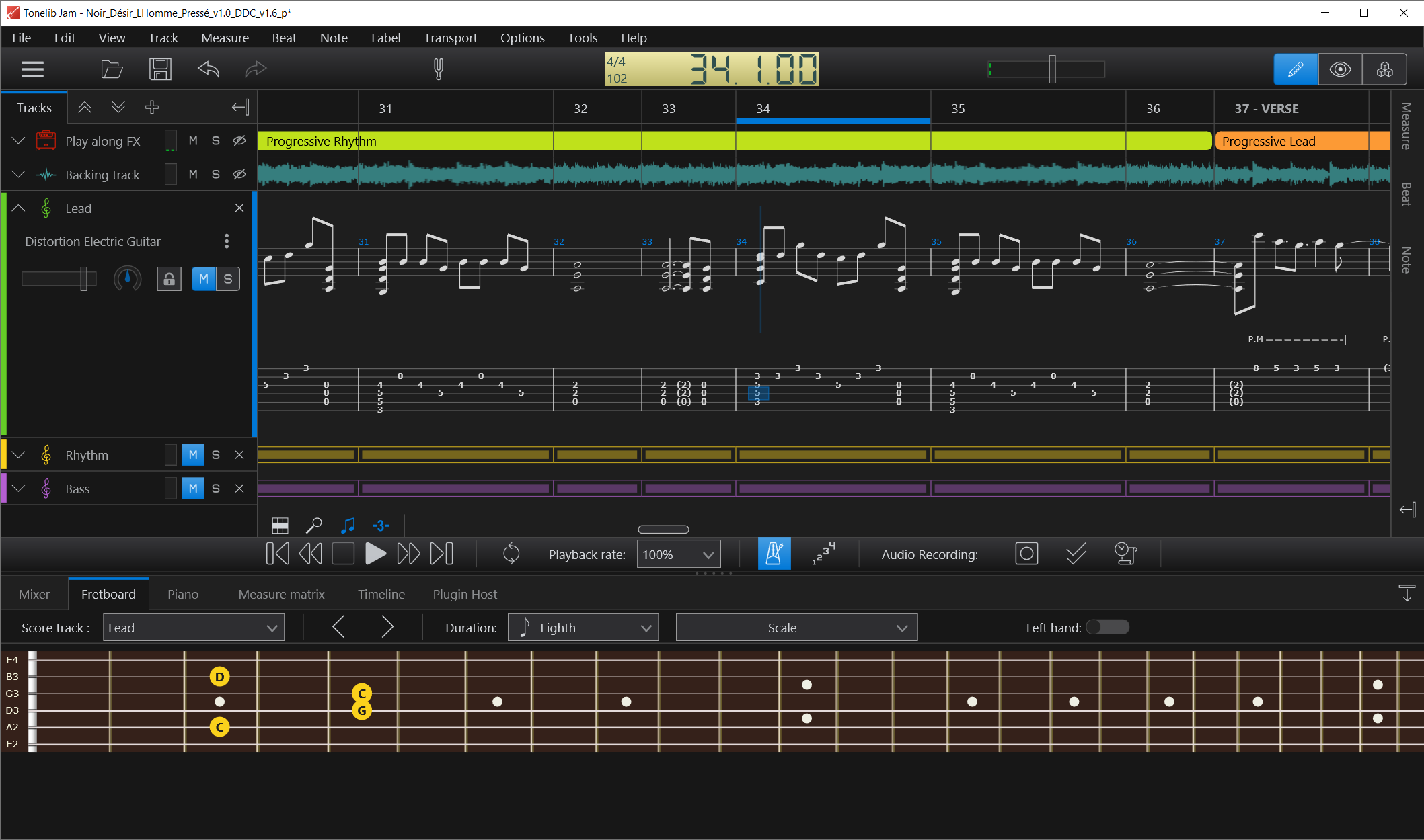 The learning and practice software for guitar players