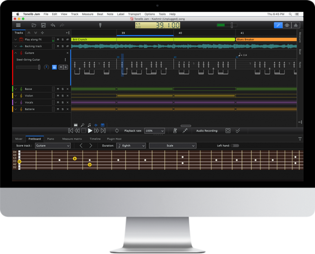 Tonelib JAM is the ultimate software dedicated to the beginner as well as the advanced guitar player.